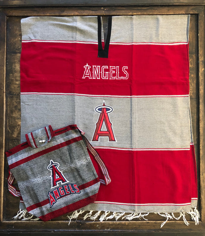 Los Angeles Angels - Gaban Blanket - Poncho -Sarape - Pancho
