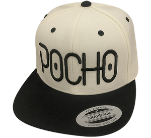 "Pocho ""El Neon"" Black on natural Hat"