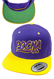 "Pocha ""Mi Vida Loca"" purple Gold hat"