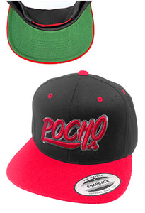 "Pocho ""Mi Vida Loca"" Black & Red Hat"