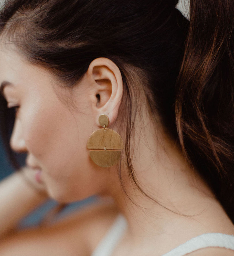 Found & Feral | Brass Earrings | No. 3