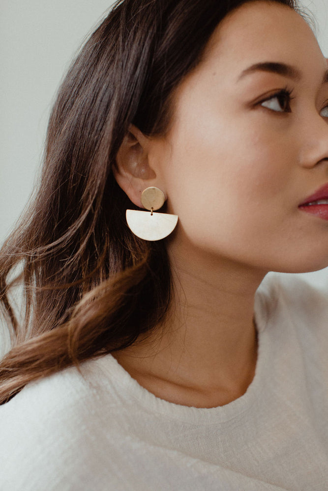Found & Feral | Brass Earrings | No. 5