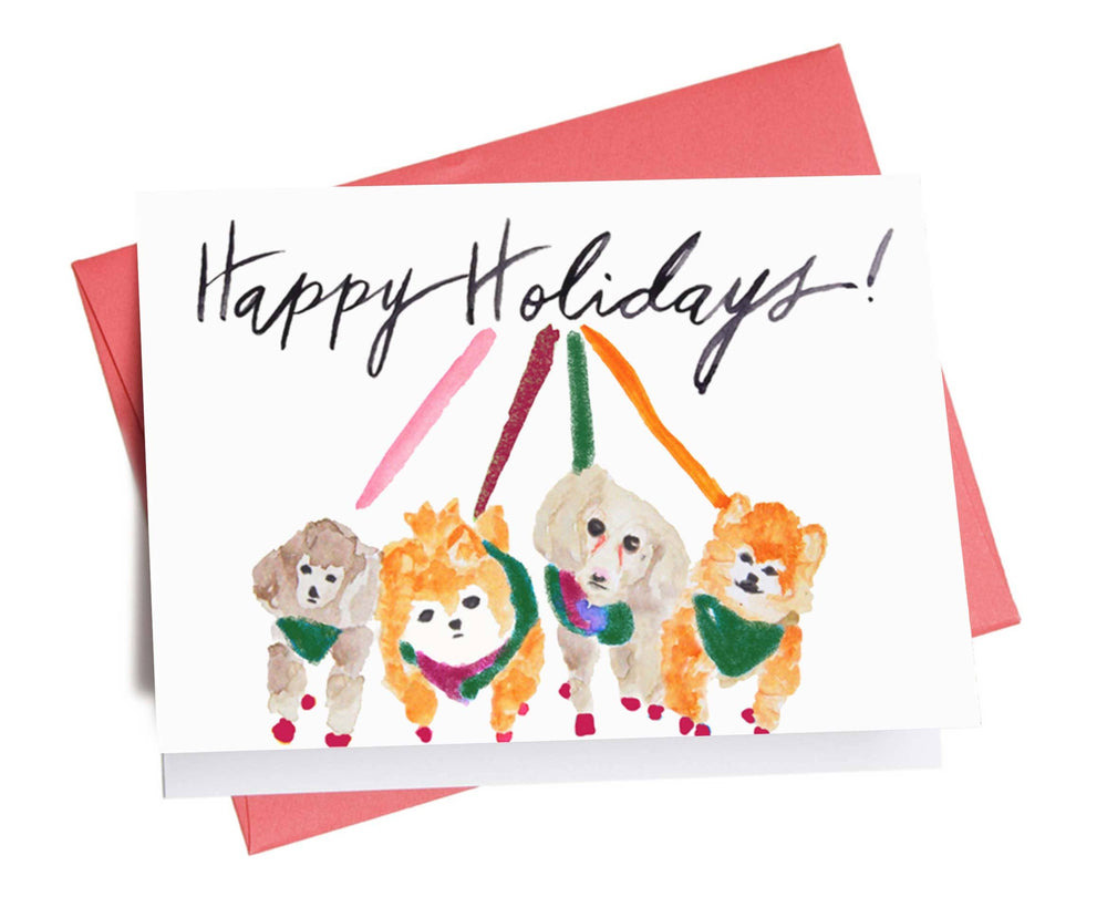 Holiday Card | Dogs on Leash