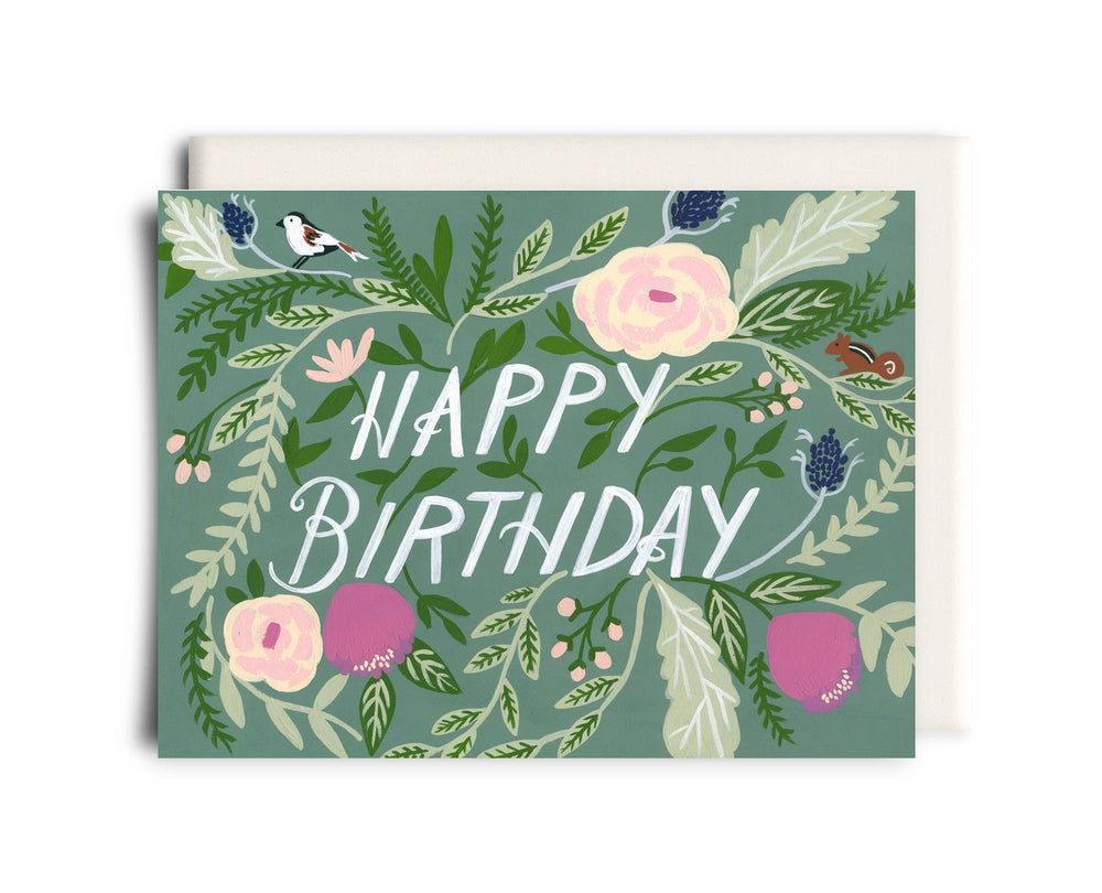 Birthday Card | Green Floral