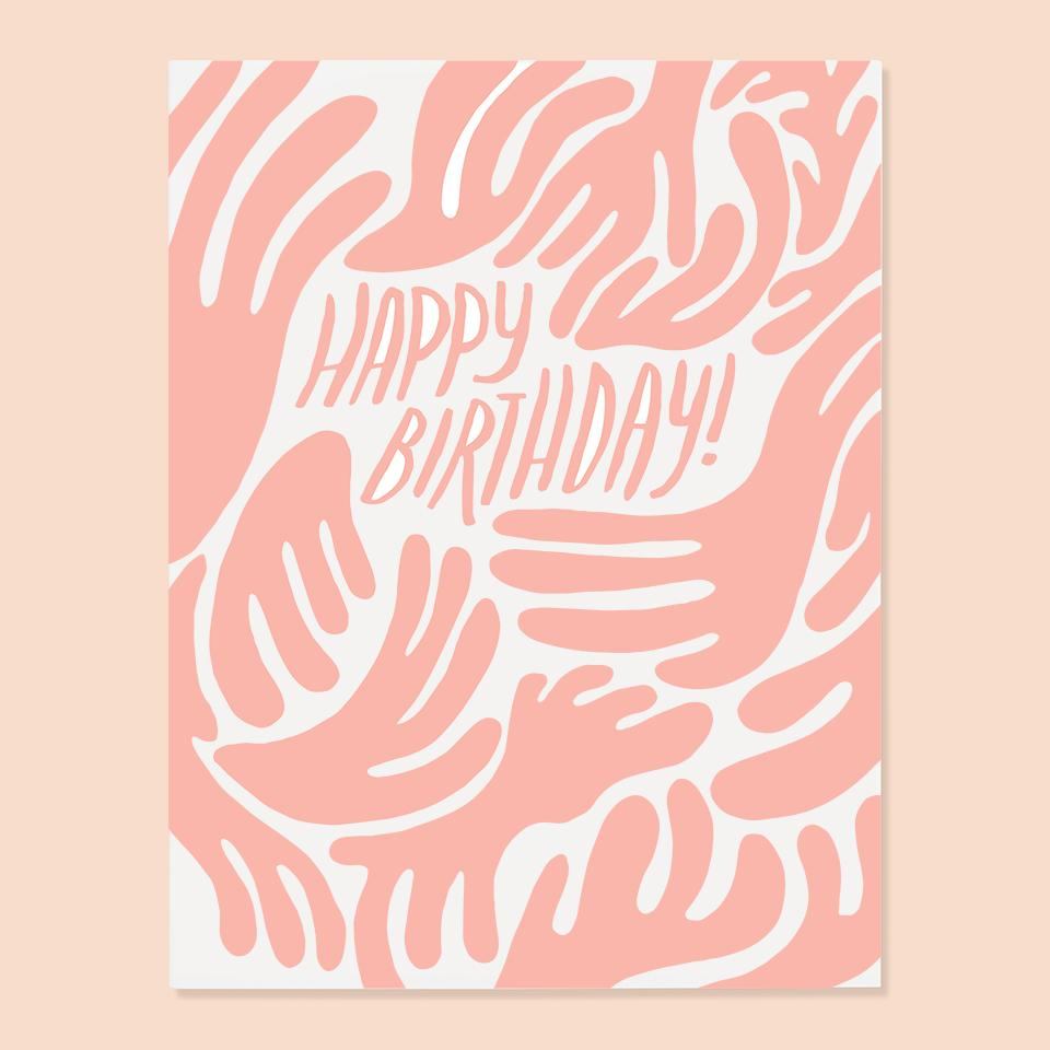 Birthday Card | Pink Blob