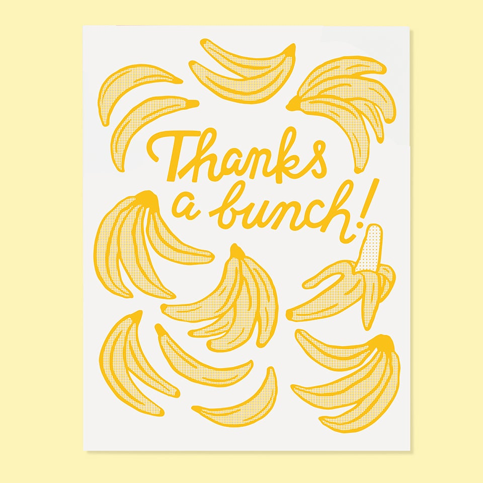 Thank You Card | Thanks a Bunch