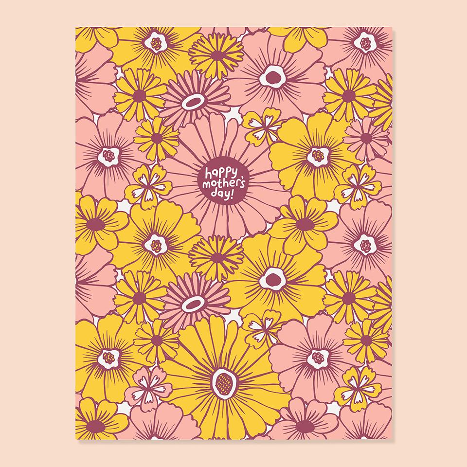 Mother's Day Card | Seventies Floral