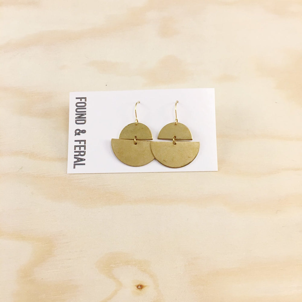 Found & Feral | Brass Earrings | No. 1