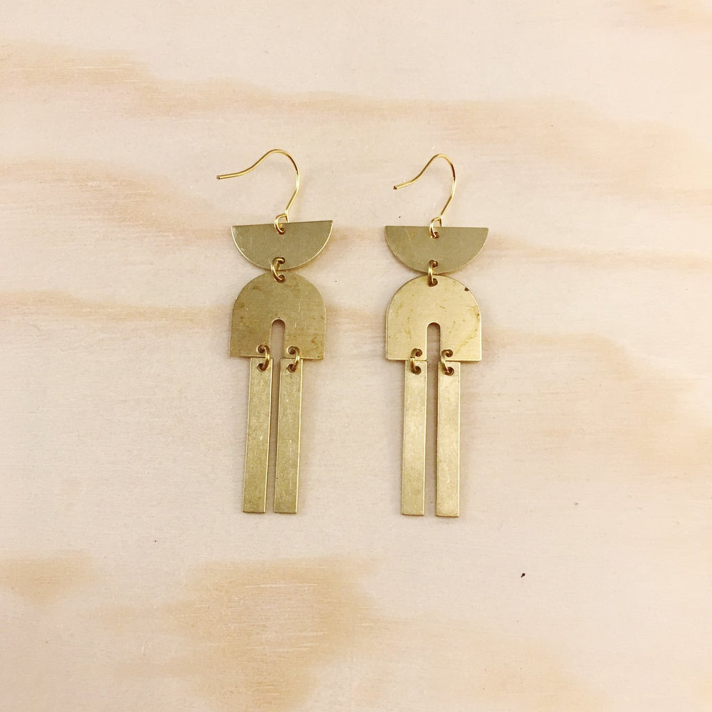 Found & Feral | Brass Earrings | No. 15