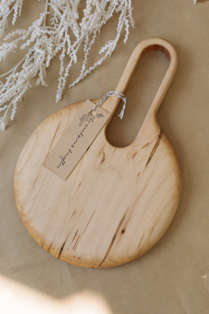 Hand Carved Wooden Board - Small