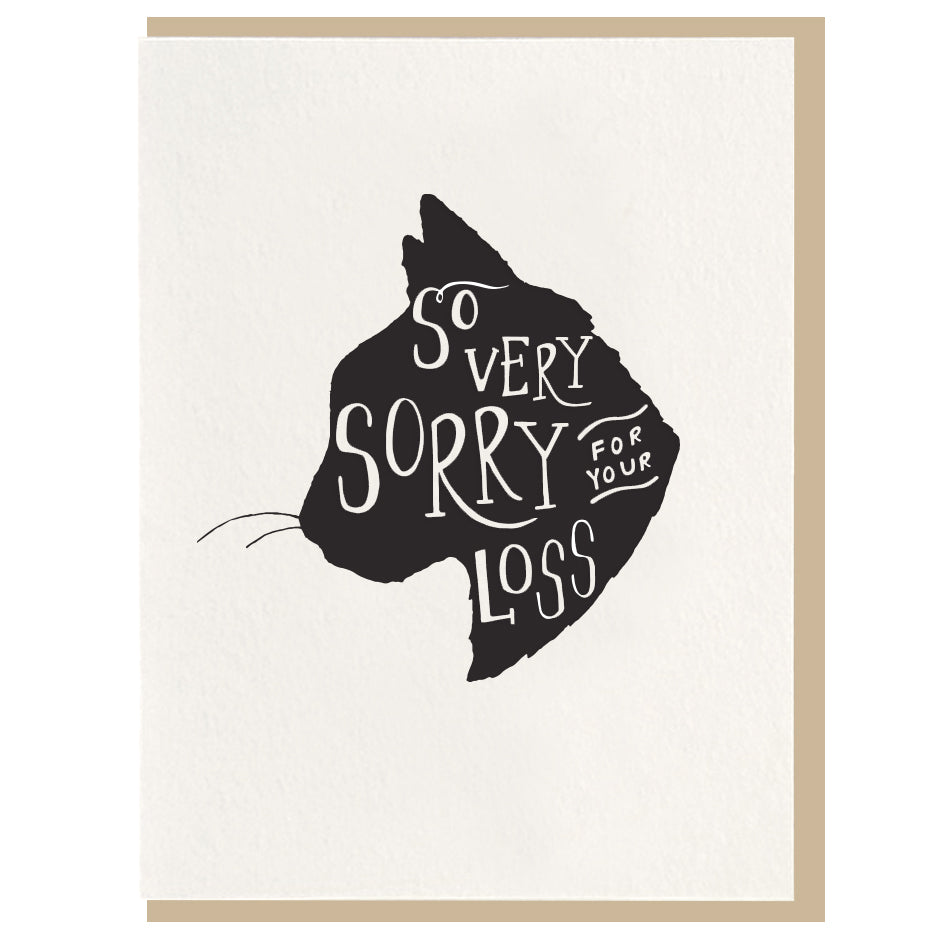Card, Cat Card | Sorry for your loss, Dahlia Press  - Common People Shop