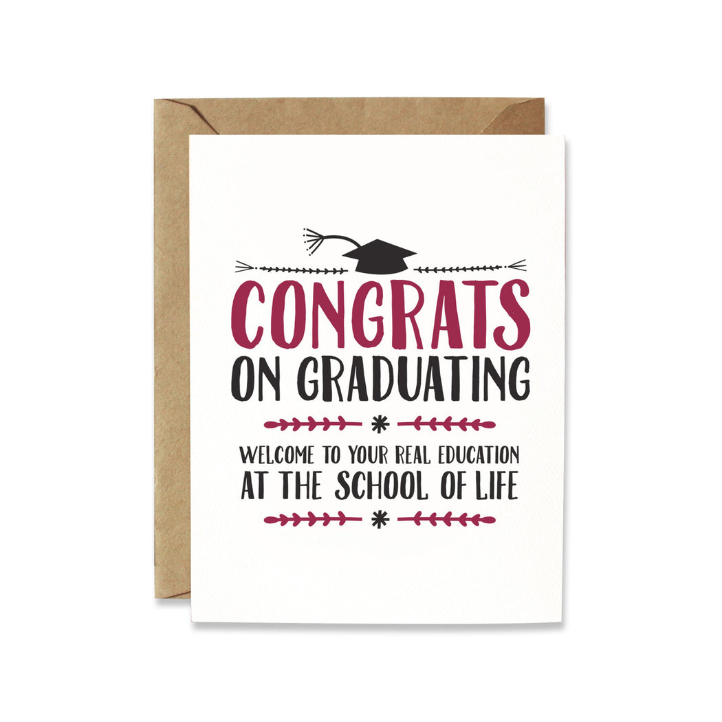 Card, Grad Card | School of Life, Thunderpeep  - Common People Shop