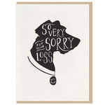 Card, Dog Card | Sorry for your loss, Dahlia Press  - Common People Shop