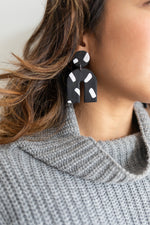 Earrings | Black and White Arches