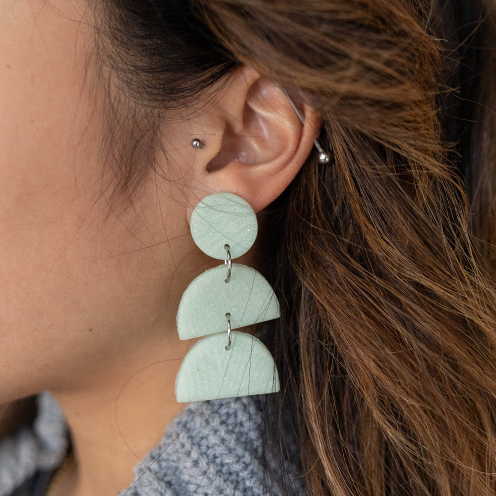 Earrings | Mint Tiered Dangles