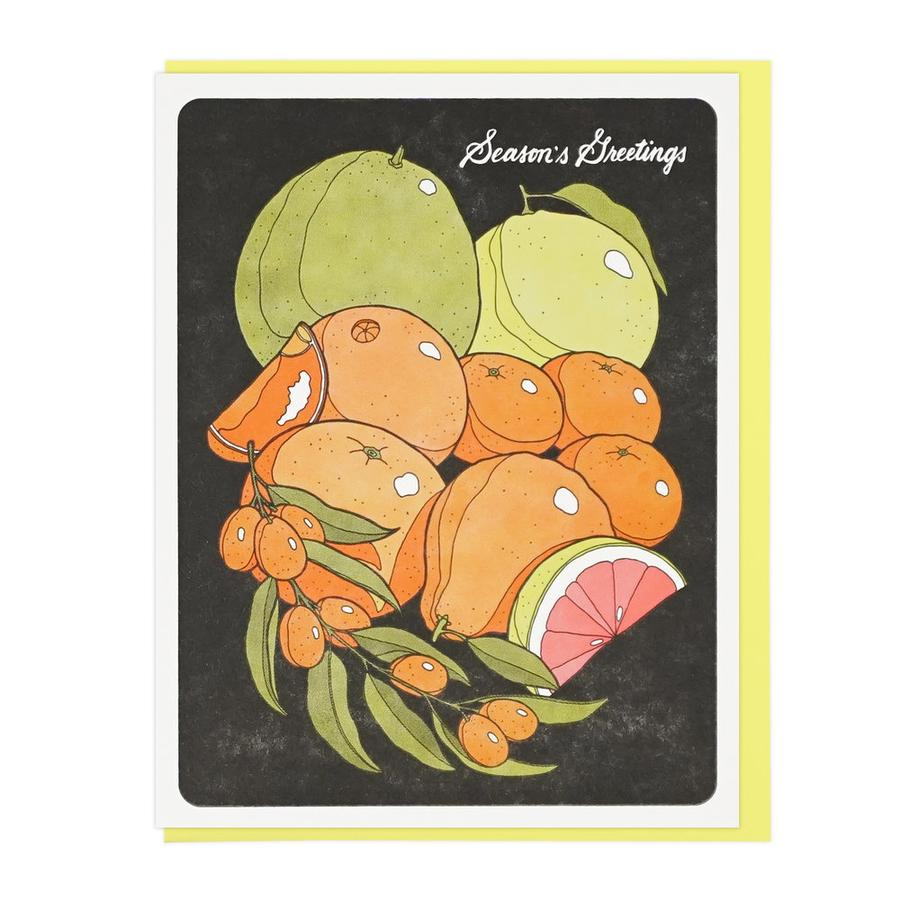 Holiday Card | Season's Greetings Citrus Fruits