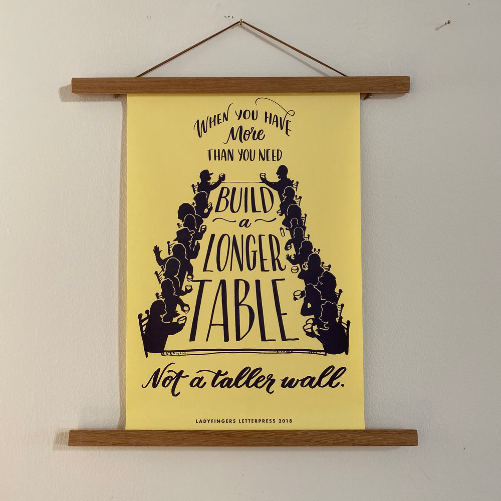 Protest Poster | Build a Longer Table