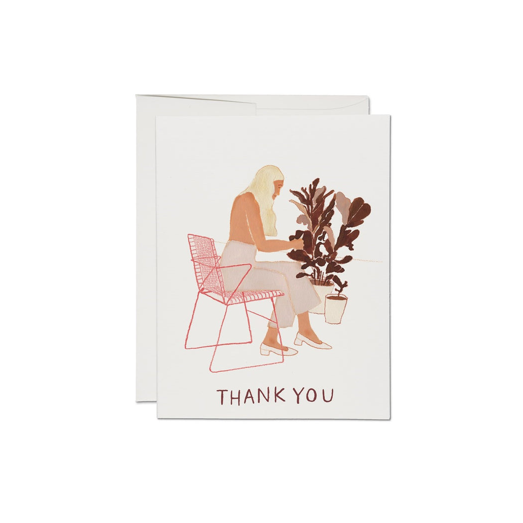 Card, Thank You Card | Pruning Plants, Red Cap Cards  - Common People Shop