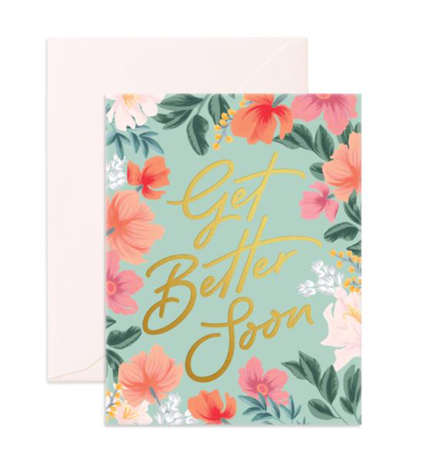 Get Well Card | Flower Foil