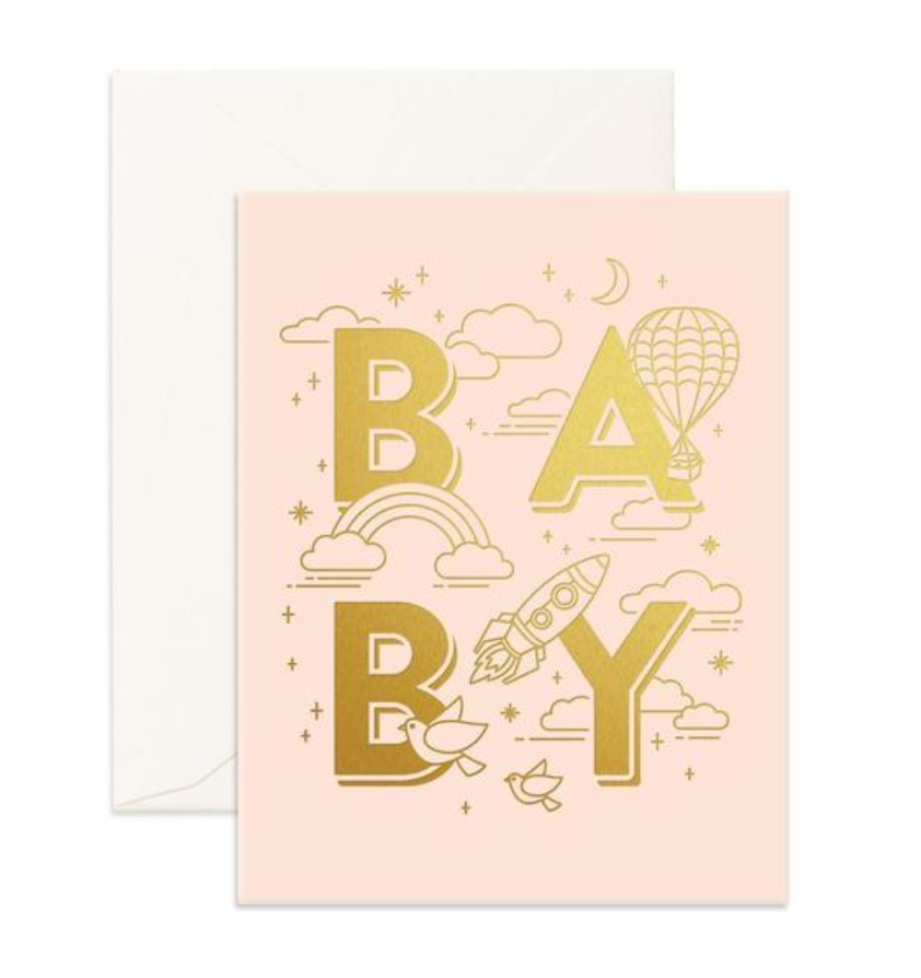 Baby Card | Pink Foil