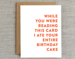 Card, Birthday Card | Entire Cake, Rhubarb Paper Co.  - Common People Shop