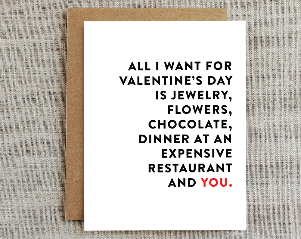 Card, Valentine's | All I Want, Rhubarb Paper Co.  - Common People Shop