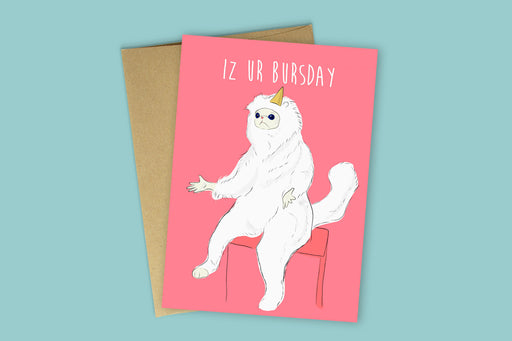 Card, Birthday | Bursday Meme, MargWarg  - Common People Shop
