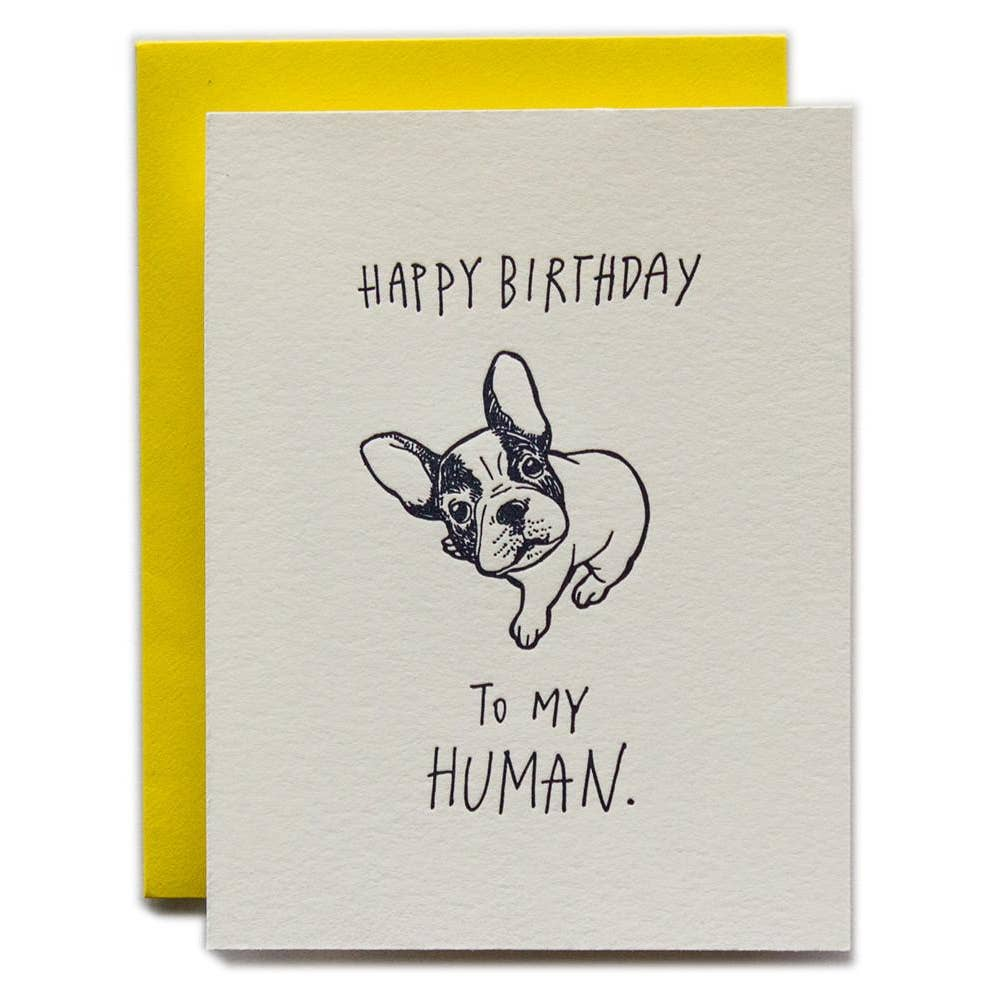 Birthday Card | Human from Dog