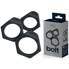 VEDO BOLTS - Cock Ring - JUST BLACK