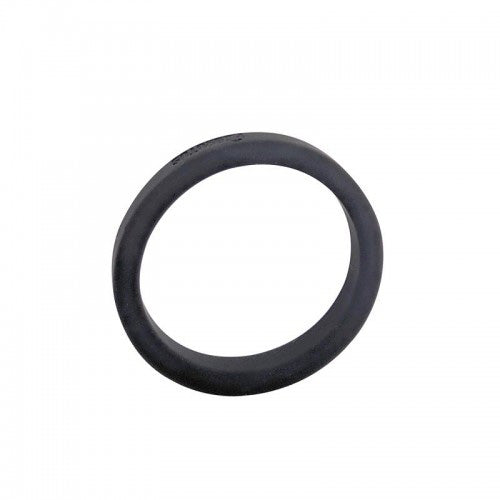 Flat Slick - Silicone Cock Ring - Black
