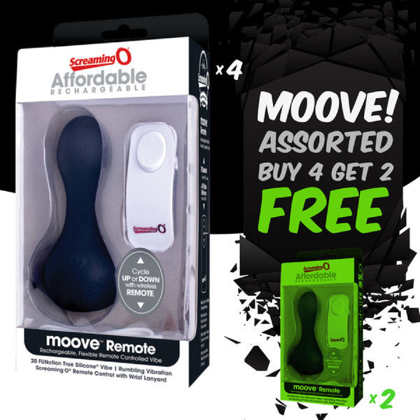 Moove Remote Control Asst (Buy 4 Get 2 Free)