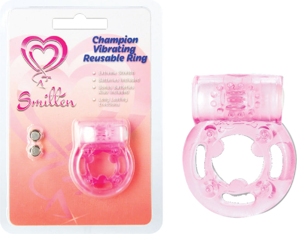 Champion Vibrating Reusable Ring Pink