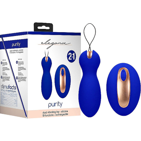 Dual Vibrating Toy - Purity Blue