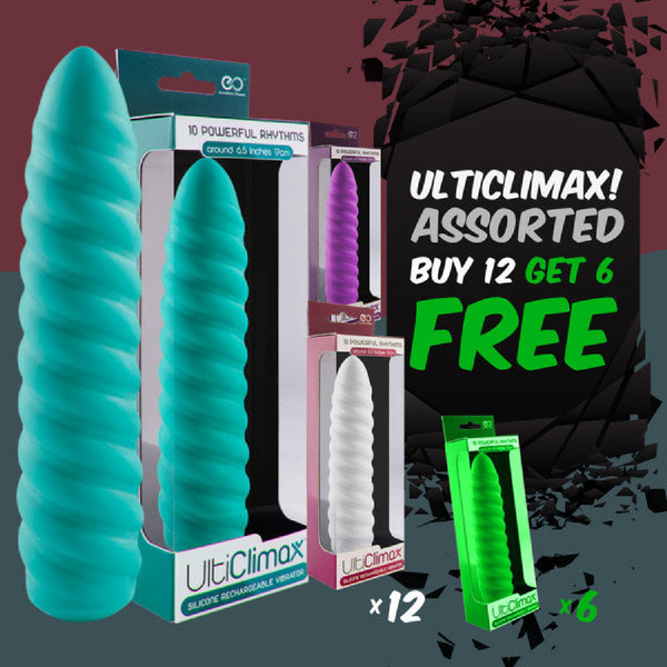 Silicone Rechargeable Vibrator (Buy 12 Asst Get 6 Free)