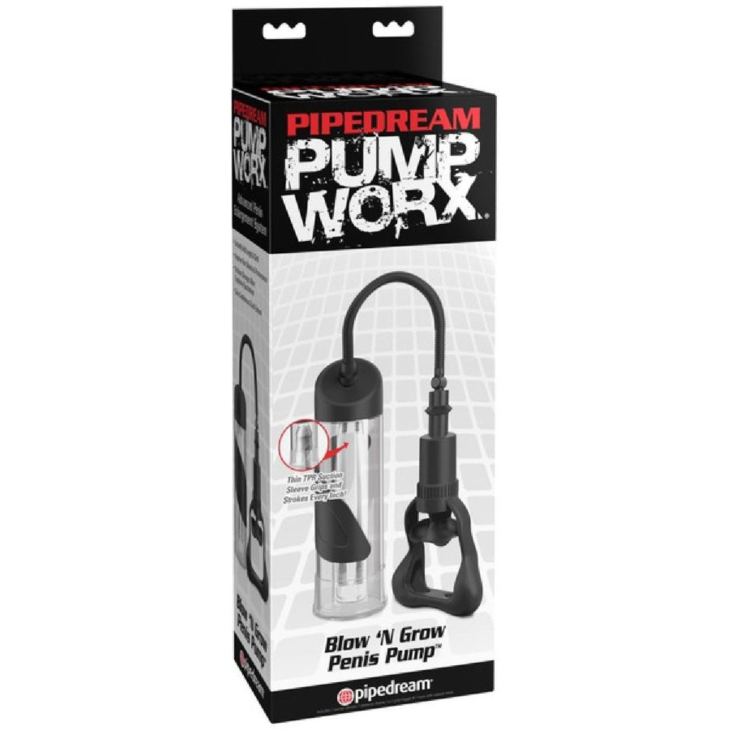 Blow-N'-Grow Penis Pump (Clear/Black)