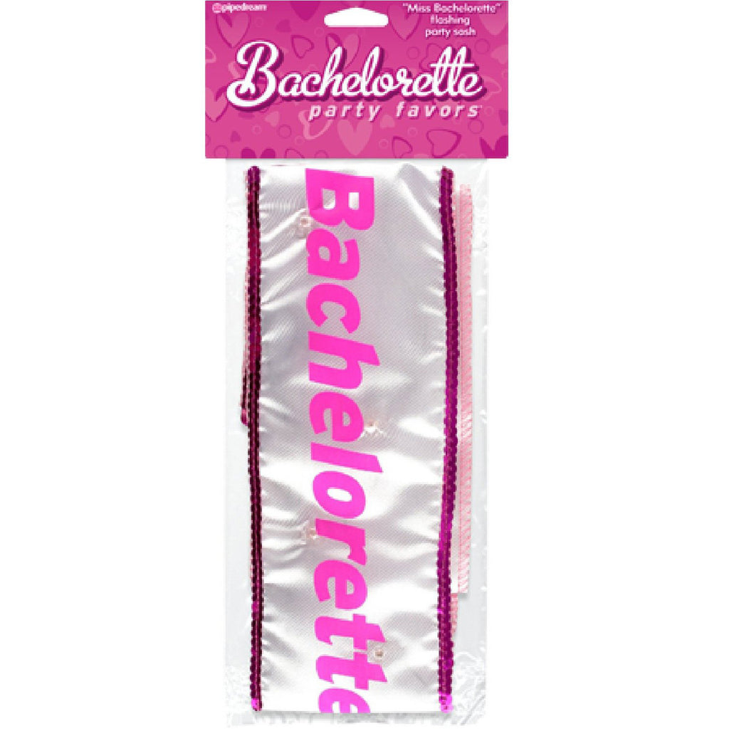 """Miss Bachelorette"" Flashing Sash"