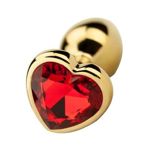 Precious Metals Heart Shaped Anal Plug-Gold