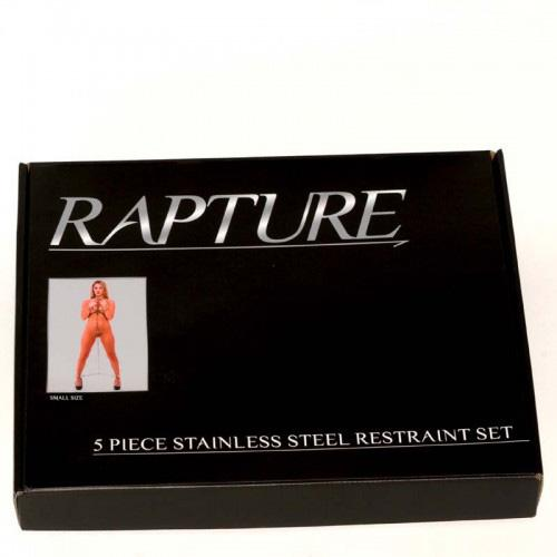 Rapture 5 Piece Stainless Steel Restraint Set Small