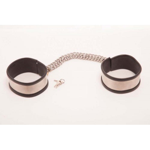 Rapture Steel Band Ankle Cuff Shackles Large
