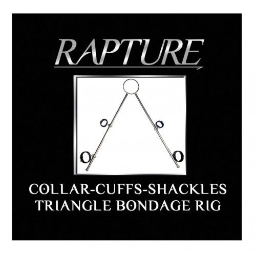 Rapture Triangular Collar Cuffs and Shackles Bondage Rig
