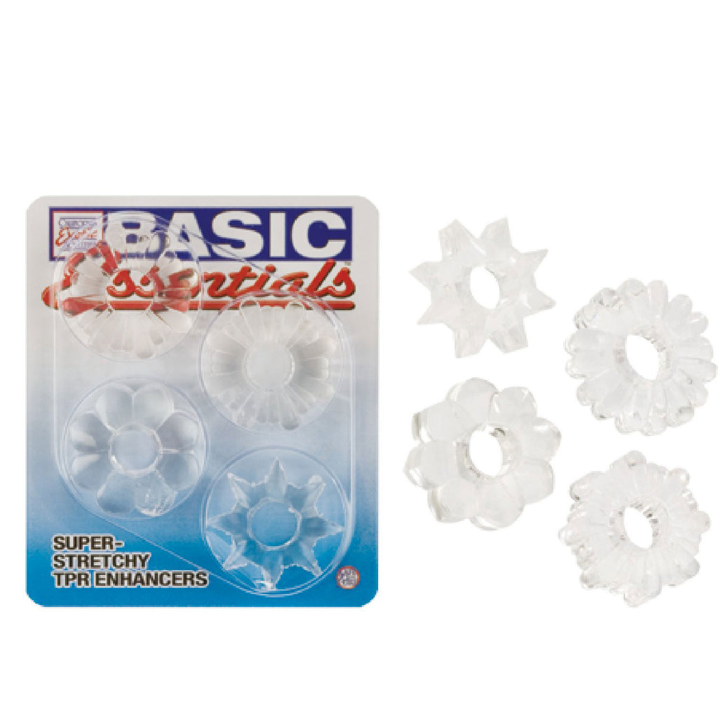 Basic Essentials -Super Stretchy TPR Enhancers - (Clear)