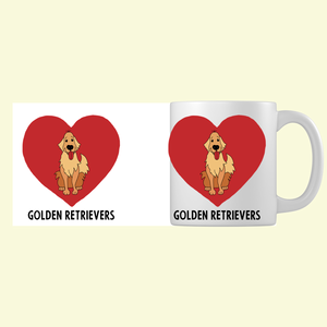 I Love Golden Retrievers Mug