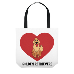 I Love Goldens Tote Bags