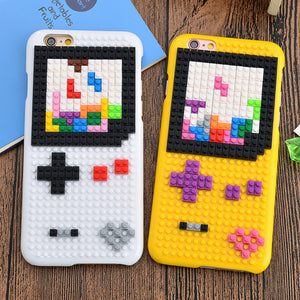 Brick Building Blocks Cartoon Mario Case for iPhone