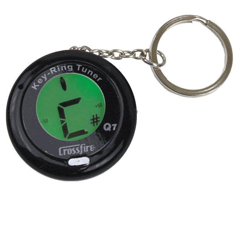 Crossfire Chromatic Keyring Guitar Tuner (Black)