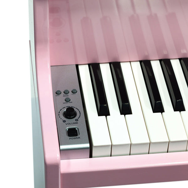 Crown 49 Note Portable Upright Mini Piano for Kids - Pink