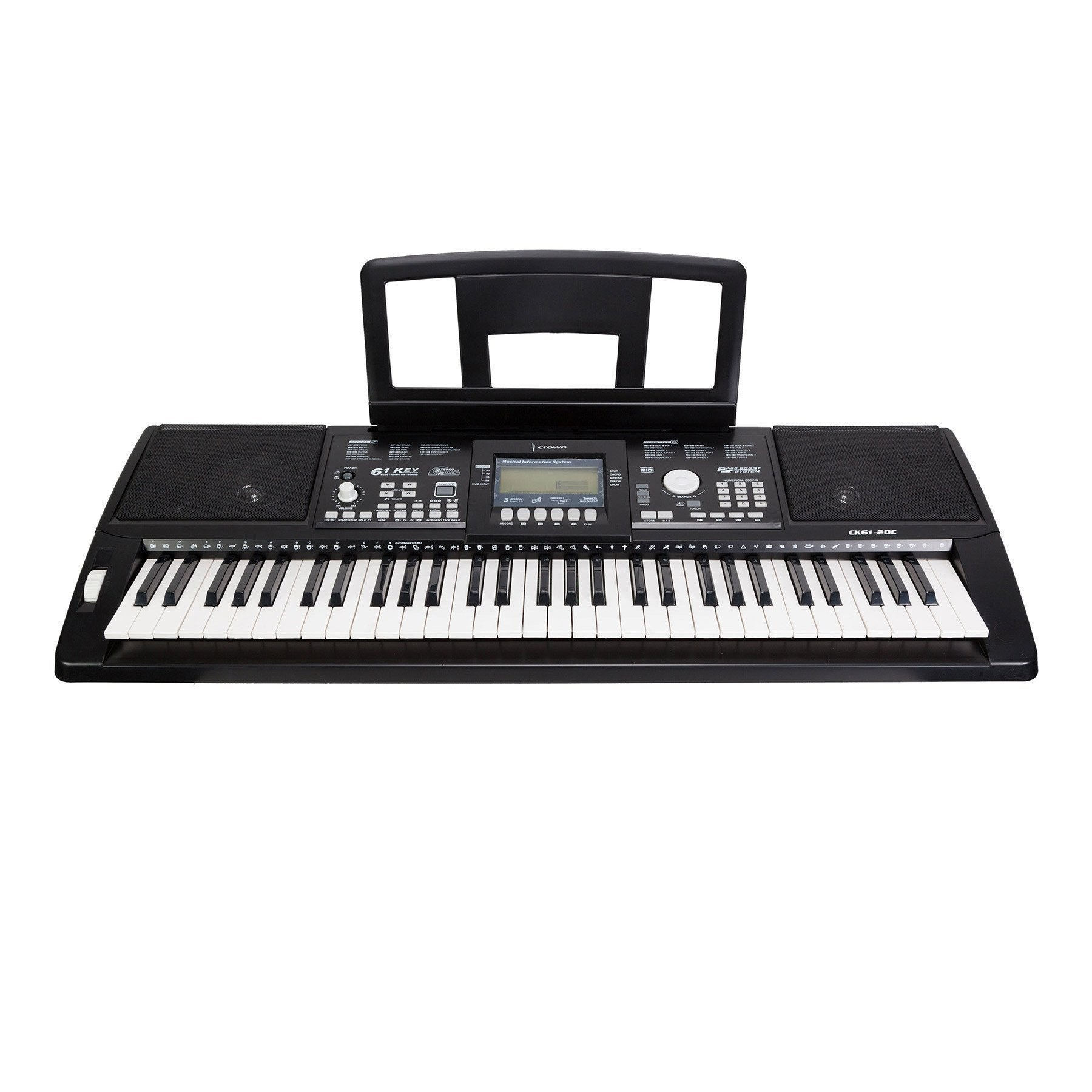 Crown 61 Note Portable Touch Sensitive Electronic Keyboard