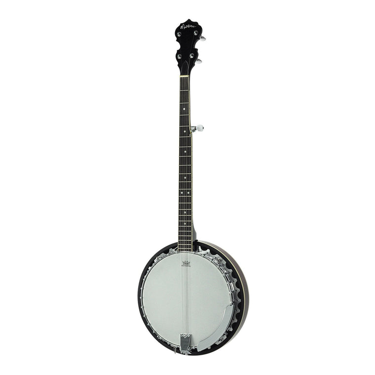 Martinez 5-String Left Handed Mahogany Banjo (Natural Gloss)