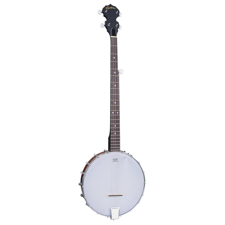 Martinez 5-String Left Handed Open-Back Banjo with Gig Bag (Natural Satin)