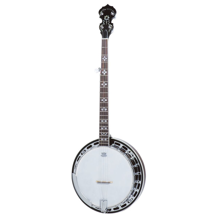 Martinez 5-String Mahogany Banjo (Natural Gloss)